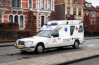 Nederland -  Oss  -  2018.  Oude wagen van het Rode Kruis.   Foto Berlinda van Dam / Hollandse Hoogte