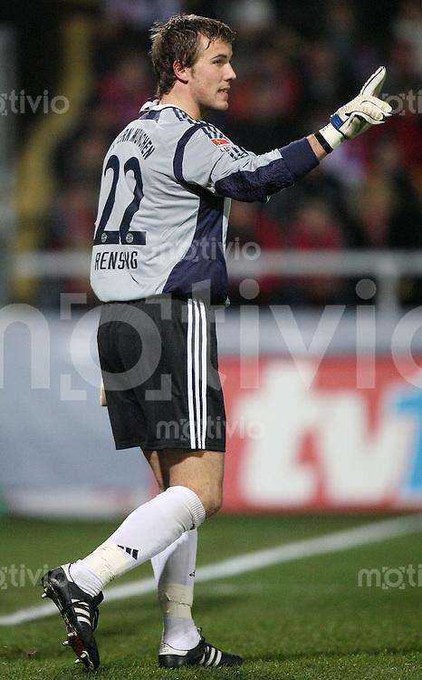 Fussball  DFB-Pokal  Saison 2006/2007 Alemannia Aachen - FC Bayern Muenchen   Torwart Michael RENSING (FC Bayern Muenchen)