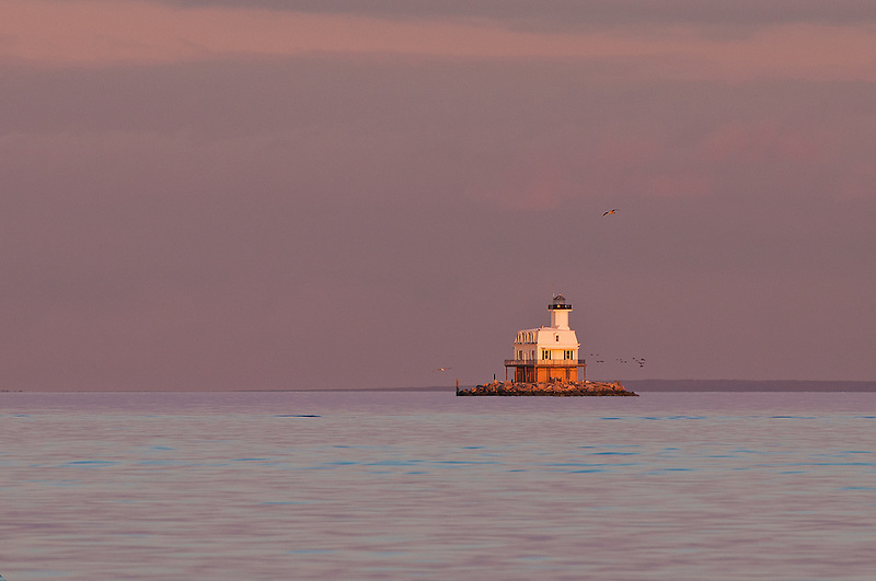 Long Beach Bar Lighthouse (Bug Light)<br />