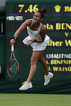 Mcc0038137 . Daily Telegraph..Wimbledon Day 1..Britiain's Heather Watson vs Iveta Benesova,Centre Court, on the first day of Wimbledon...25 June 2012