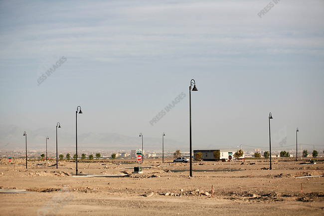 Former housing areas which have fallen into disuse because of the financial crisis, Las Vegas, Nevada, USA, April 12, 2008