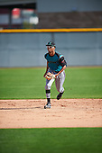 Amani Karim (7) of Birmingham Brother Rice High School in Detroit, Michigan during the Under Armour All-American Pre-Season Tournament presented by Baseball Factory on January 14, 2017 at Sloan Park in Mesa, Arizona.  (Mike Janes/Mike Janes Photography)