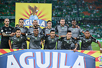 MEDELLIN - COLOMBIA, 05-11-2018: Jugadores de La Equidad posan para una foto previo al encuentro entre Atlético Nacional y La Equidad por la fecha 18 de la Liga Águila II 2018 jugado en el estadio Atanasio Girardot de la ciudad de Medellín. / Players of La Equidad pose to a photo prior the match between Atletico Nacional and La Equidad for the date 18 of the Aguila League II 2018 played at Atanasio Girardot stadium in Medellin city. Photo: VizzorImage/León Monsalve/Cont