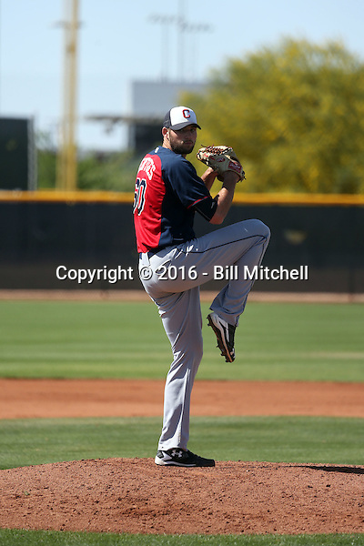 Sam Hentges - Cleveland Indians 2016 spring training (Bill Mitchell)