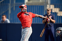 Ed Howard (11) during the Under Armour All-America Game Practice, powered by Baseball Factory, on July 21, 2019 at Les Miller Field in Chicago, Illinois.  Ed Howard attends Mount Carmel High School in Lynwood, Illinois and is committed to Universrity of Oklahoma.  (Mike Janes/Four Seam Images)