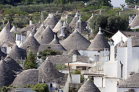 Una veduta dei trulli di Alberobello.<br /> View of the Trulli, typical beehive-shaped houses of Alberobello.<br /> UPDATE IMAGES PRESS/Riccardo De Luca