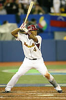 March 7, 2009:  Jose Lopez (4) of Venezuela during the first round of the World Baseball Classic at the Rogers Centre in Toronto, Ontario, Canada.  Venezuela defeated Italy 7-0 in both teams opening game of the tournament.  Photo by:  Mike Janes/Four Seam Images
