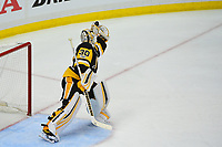 May 29, 2017: Pittsburgh Penguins goalie Matt Murray (30) makes a save during game one of the National Hockey League Stanley Cup Finals between the Nashville Predators  and the Pittsburgh Penguins, held at PPG Paints Arena, in Pittsburgh, PA.   Eric Canha/CSM