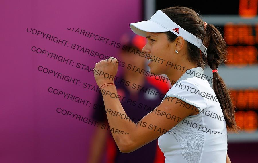 Olympic games London 2012.Tennis tournament.Ana Ivanovic SRB v Elena Baltacha GBR.Ana Ivanovic reacts.London, 30.07.2012..foto: Srdjan Stevanovic/Starsportphoto ©