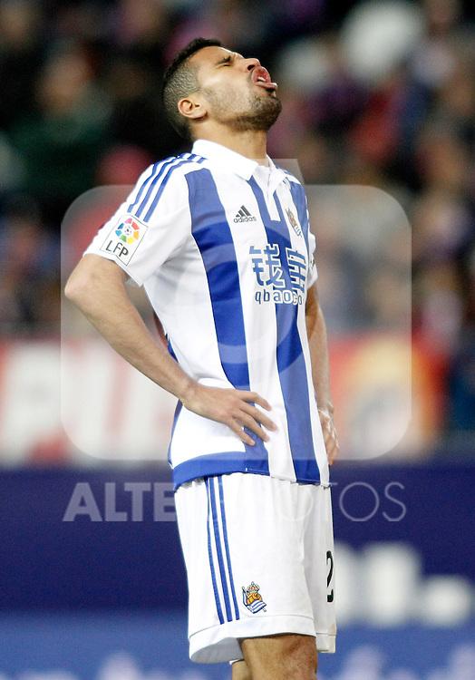 Real Sociedad's Jonathas de Jesus dejected during La Liga match. March 1,2016. (ALTERPHOTOS/Acero)