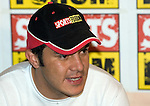 Mexican soccer player Cuauhtemoc Blanco talks to reporters during a press conference, April 03, 2006, after being left off of Mexico's World Cup roster by the national soccer team coach Ricardo Antonio Lavolpe. Photo by © Javier Rodriguez