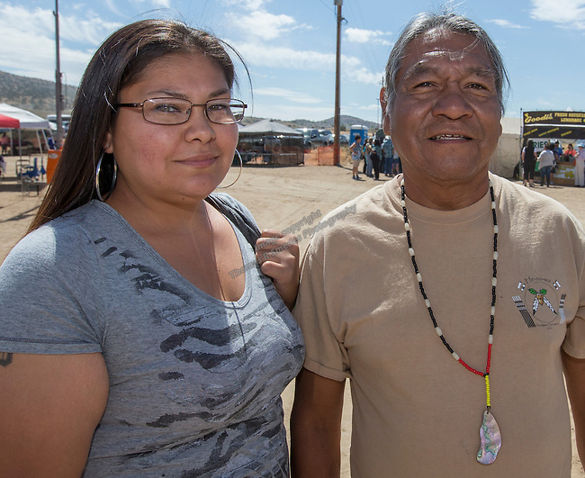 Richard Sallee and daughter Samantha Henry from Gardnerville at the Numaga Indian Days Pow Wow in Hungry Valley on Saturday, Sept. 3, 2016.