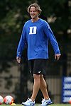 30 August 2015: Duke assistant coach Erwin van Bennekom (NED). The Duke University Blue Devils hosted the William & Mary University Tribe at Koskinen Stadium in Durham, NC in a 2015 NCAA Division I Women's Soccer game. Duke won the game 2-0.