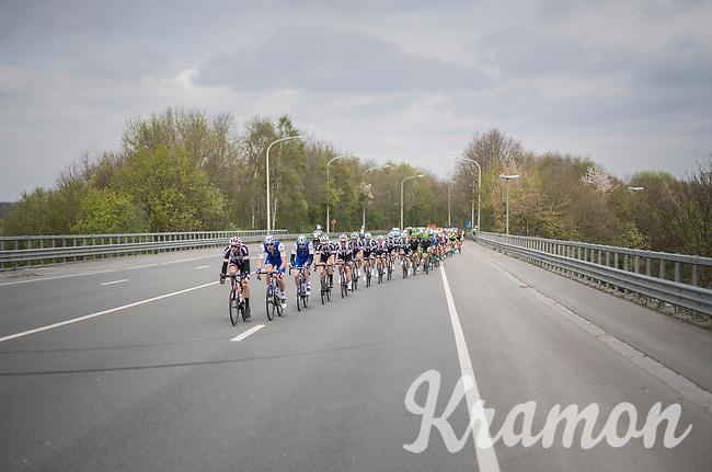peloton rolling on<br /> <br /> 57th Brabantse Pijl - La Fl&egrave;che Braban&ccedil;onne (1.HC)<br /> 1 Day Race: Leuven &rsaquo; Overijse (197km)