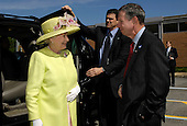 """Queen Elizabeth II, left, is greeted by NASA Administrator Michael Griffin to the NASA Goddard Space Flight Center, Tuesday, May 8, 2007, in Greenbelt, Md. as one of the last stops on her six-day visit to the United States. Photo Credit: """"NASA/Bill Ingalls"""""""