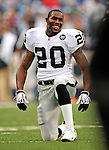 21 September 2008:  Oakland Raiders' running back  Darren McFadden warms up prior to a game against the Buffalo Bills at Ralph Wilson Stadium in Orchard Park, NY. The Bills defeated the Raiders 24-23 to mark their first 3-0 start of the season since 1992...Mandatory Photo Credit: Ed Wolfstein Photo