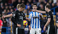 Huddersfield Town's Christopher Schindler reacts after being sent off<br /> <br /> Photographer Andrew Kearns/CameraSport<br /> <br /> The Premier League - Huddersfield Town v Burnley - Wednesday 2nd January 2019 - John Smith's Stadium - Huddersfield<br /> <br /> World Copyright © 2019 CameraSport. All rights reserved. 43 Linden Ave. Countesthorpe. Leicester. England. LE8 5PG - Tel: +44 (0) 116 277 4147 - admin@camerasport.com - www.camerasport.com