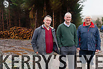 Member of the Iveragh Forestry Group pictured at the Doora, Mastergeehy l-r; Mike Shea(Treasurer), Sean Moran(Chairman) & Donnie O'Shea(PRO).