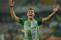 MEDELLÍN -COLOMBIA - 31-03-2017: Mateus Uribe de Atlético Nacional celebra después de anotar un gol a Deportivo Pasto durante partido por la fecha 11 de la Liga Águila I 2017 jugado en el estadio Atanasio Girardot de la ciudad de Medellín. / Mateus Uribe payer of Atletico Nacional celebrates after scoring a goal to Deportivo Pasto during match for the date 11 of the Aguila League I 2017 at Atanasio Girardot stadium in Medellin city. Photo: VizzorImage/León Monsalve/