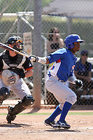 Arismendy Alcantara of the Chicago Cubs plays in a minor league spring training game against the San Francisco Giants at the Cubs complex on March 29, 2011  in Mesa, Arizona. .Photo by:  Bill Mitchell/Four Seam Images.