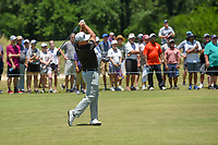 Graeme McDowell (NIR) hits his second shot on 1 during round 1 of the AT&amp;T Byron Nelson, Trinity Forest Golf Club, at Dallas, Texas, USA. 5/17/2018.<br /> Picture: Golffile | Ken Murray<br /> <br /> <br /> All photo usage must carry mandatory copyright credit (&copy; Golffile | Ken Murray)