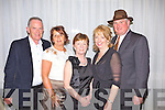 Local friends Richard and Marcella Holly, Barbara Walsh with Mary and Carl Clayton at the 1940's themed ball held last Sunday night in The Listowel Arms Hotel in aid of the 'May Day May Day' vintage festival.