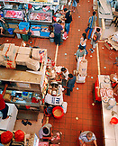 SINGAPORE, Asia, top view of people shopping at Tekka Wet market