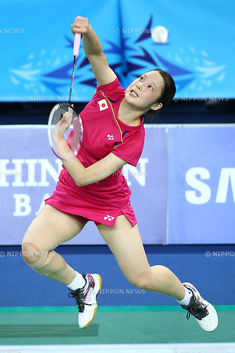 Minatsu Mitani (JPN), <br /> SEPTEMBER 20, 2014 - Badminton : <br /> Women's Team quarter final<br /> at Gyeyang Gymnasium <br /> during the 2014 Incheon Asian Games in Incheon, South Korea. <br /> (Photo by Shingo Ito/AFLO SPORT) [1195]