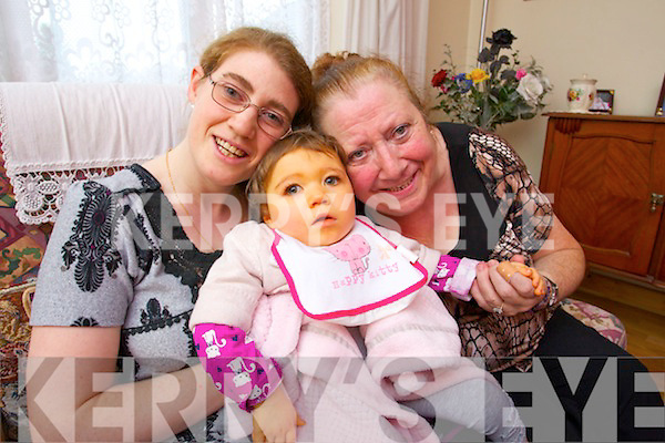 Two year old Amber Louise Jones pictured here with her Mother Sarah and Grandmother Trish Odell will be the first child from Kerry to use the new Bumblance, a specially designed ambulance for children.