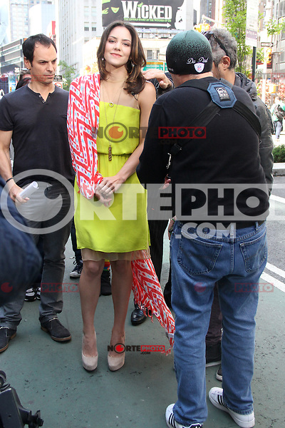 May 10, 2012 Katharine McPhee on the show Extra to talk about NBC's TV series 'SMASH' in New York City. Credit:RW/MediaPunch Inc.