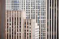 Abstract of office buildings of Rockefeller Center in New York on Wednesday, June 21, 2017.  (© Richard B. Levine)