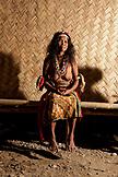 PHILIPPINES, Palawan, Barangay region, portrait of an elder Batak woman named Anicia in Kalakwasan Village