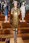 Petra Samovar dress shown at the Catherine Martin and Muccia Prada Dress Gatsby display at Prada store in SOHO, NYC May 4, 2013.