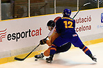 14 th and 15th December 2019; FC Barcelona Ice ring, Barcelona, Catalonia, Spain; Pre olimpic tournament ice hockey