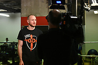 George Groves is interviewed during a Media Workout at Dale Youth ABC on 10th October 2017