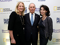 "LONDON, UK - DECEMBER 11: Mary Thompson, Michael Bloomberg and Katherine Oliver attend the London Premiere of Bloomberg and National Geographic's ""Paris to Pittsburgh"" at the BAFTA Theatre on December 11, 2018 in London, UK. (Photo by Vianney Le Caer/National Geographic/PictureGroup)"