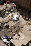 North Creek Shelter Excavation in Escalante Valley.Joel Janetski..August 18, 2006..Photography by Mark A. Philbrick..Copyright BYU Photo 2006 .All Rights Reserved .photo@byu.edu  (801)422-7322
