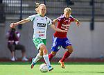 Stockholm 2015-07-11 Fotboll Damallsvenskan Hammarby IF DFF - Vittsj&ouml; GIK :  <br /> Hammarbys Katrin Schmidt i kamp om bollen med Vittsj&ouml;s Therese Bj&ouml;rck under matchen mellan Hammarby IF DFF och Vittsj&ouml; GIK <br /> (Foto: Kenta J&ouml;nsson) Nyckelord:  Fotboll Damallsvenskan Dam Damer Zinkensdamms IP Zinkensdamm Zinken Hammarby HIF Bajen Vittsj&ouml; GIK