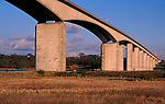 A753RE Orwell bridge concrete support columns Suffolk England