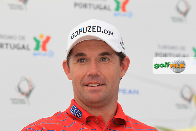 Padrag Harrington (IRL) in the interview room during Wednesday's Practice Day of the Portugal Masters at the Oceanico Victoria Golf Course, Vilamoura, Portugal 10th October 2012 (Photo Eoin Clarke/www.golffile.ie)