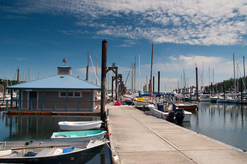 Friday Harbor Marina. Friday Harbor, San Juan Island, Washington