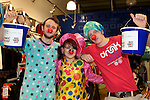 Pix: Shaun Flannery/shaunflanneryphotography.com...COPYRIGHT PICTURE>>SHAUN FLANNERY>01302-570814>>07778315553>>..19th March 2011...............Lakeside Village, Doncaster..Comic Relief Event..L-R Michael Bellamy, Samantha Smith-Howell, James Robinson of Trespass.