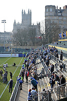 A general view of the Thatchers Terracing prior to the match. Aviva Premiership match, between Bath Rugby and Harlequins on February 18, 2017 at the Recreation Ground in Bath, England. Photo by: Patrick Khachfe / Onside Images