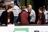 Mike Feeley (BC - Student Manager), Kenny Ryan (BC - Student Manager), John Hegarty (BC - Manager), Justin Murphy (BC - Student Manager) - The Boston College Eagles defeated the University of Vermont Catamounts 4-0 in the Hockey East championship game on Saturday, March 22, 2008, at TD BankNorth Garden in Boston, Massachusetts.