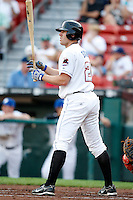 July 28, 2009:  Nick Evans of the Buffalo Bisons at bat during a game at Coca-Cola Field in Buffalo, NY.  Buffalo is the International League Triple-A affiliate of the New York Mets.  Photo By Mike Janes/Four Seam Images