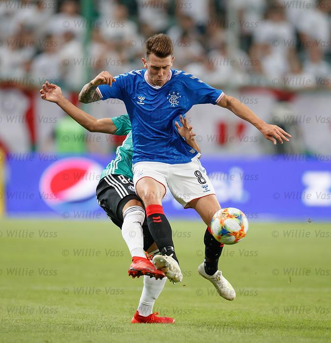 22.08.2019 Legia Warsaw v Rangers: Ryan Jack