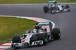 (L to R) Lewis Hamilton, Nico Rosberg (Mercedes AMG), <br /> OCTOBER 5, 2014 - F1 : Japanese Formula One Grand Prix at Suzuka Circuit in Suzuka, Japan. (Photo by AFLO SPORT) [1180] GERMANY OUT
