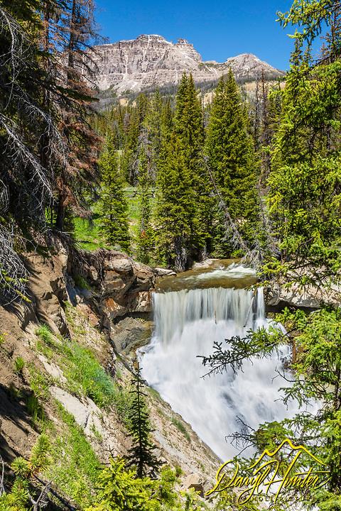 Brooks Creek Falls, Breccia Cliffs, Absaroka Mountains, Dubois, Wyoming