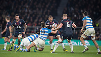Twickenham, United Kingdom. Kyle SINCKLER, during the Old Mutual Wealth Series Rest Match: England vs Argentina, at the RFU Stadium, Twickenham, England, <br /> <br /> Saturday  26/11/2016<br /> <br /> [Mandatory Credit; Peter Spurrier/Intersport-images]