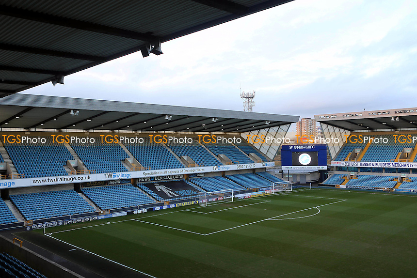 General view of 'The North Stand' at Millwall FC. The away fans are normally located in the upper tier during Millwall vs Peterborough United, Sky Bet EFL League 1 Football at The Den on 28th February 2017